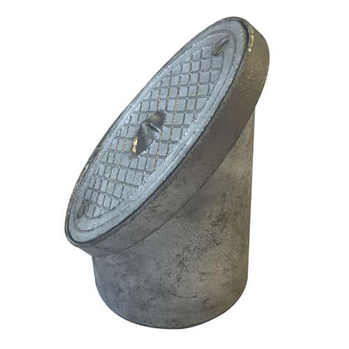 110mm Underground Drainage Oval Rodding Point Alloy
