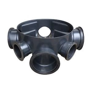 160mm x 450mm Underground Draiange Manhole Base 5 Inlet