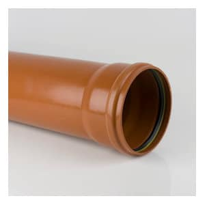110mm U/Ground S/Socket Pipe 3mt