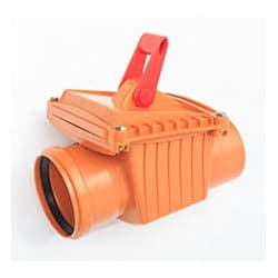 110mm anti flood sewer valve