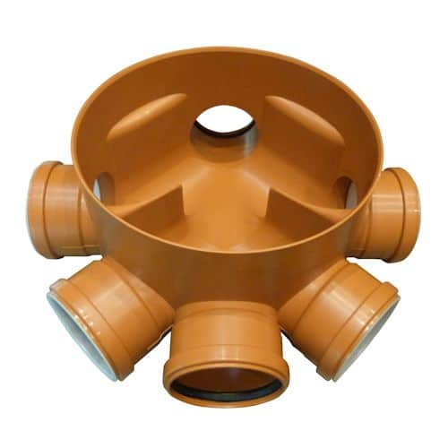 315mm 5 way 110mm Manhole Base Level Invert