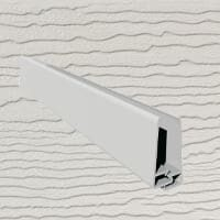 6mt Embossed Cladding 2 Part U-Channel Light Ivory