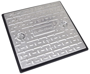 Clark-Drain PC7CG 600 x 600 Galvanised Cover-Frame 10ton