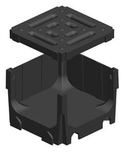Shallow Smart Drainage Channel Black Quad Joiner