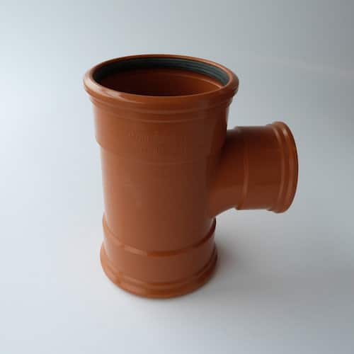 160mm-110mm Underground Drainage 90 degree Triple Socket Un Equal T Branch