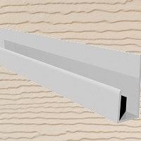 6mt Embossed Cladding U-Channel Sand