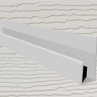 6mt Embossed Cladding U-Channel Light Ivory