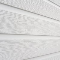 300mm x 6m Double Plank Embossed Cladding White