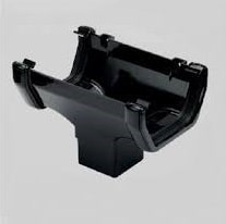 114mm Black Square Style Guttering