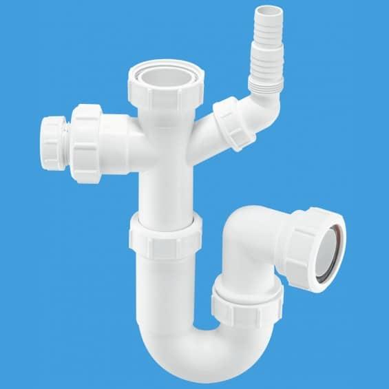 McAlpine ASC10CO 40mm Tubular Swivel Sink Inlet P-Trap