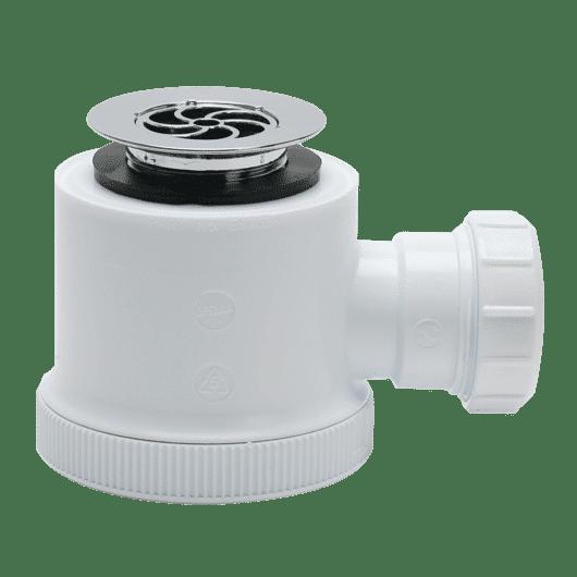 Shower Trap 40mm x 50mm Seal 70mm Flange Chrome Waste