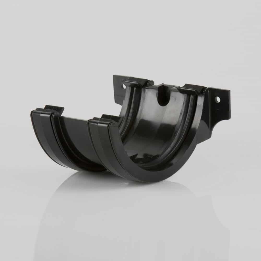 Roundstyle 112mm Gutter Joining Bracket Black