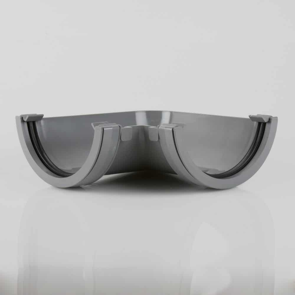Roundstyle 112mm 90' Gutter Angle Light Grey