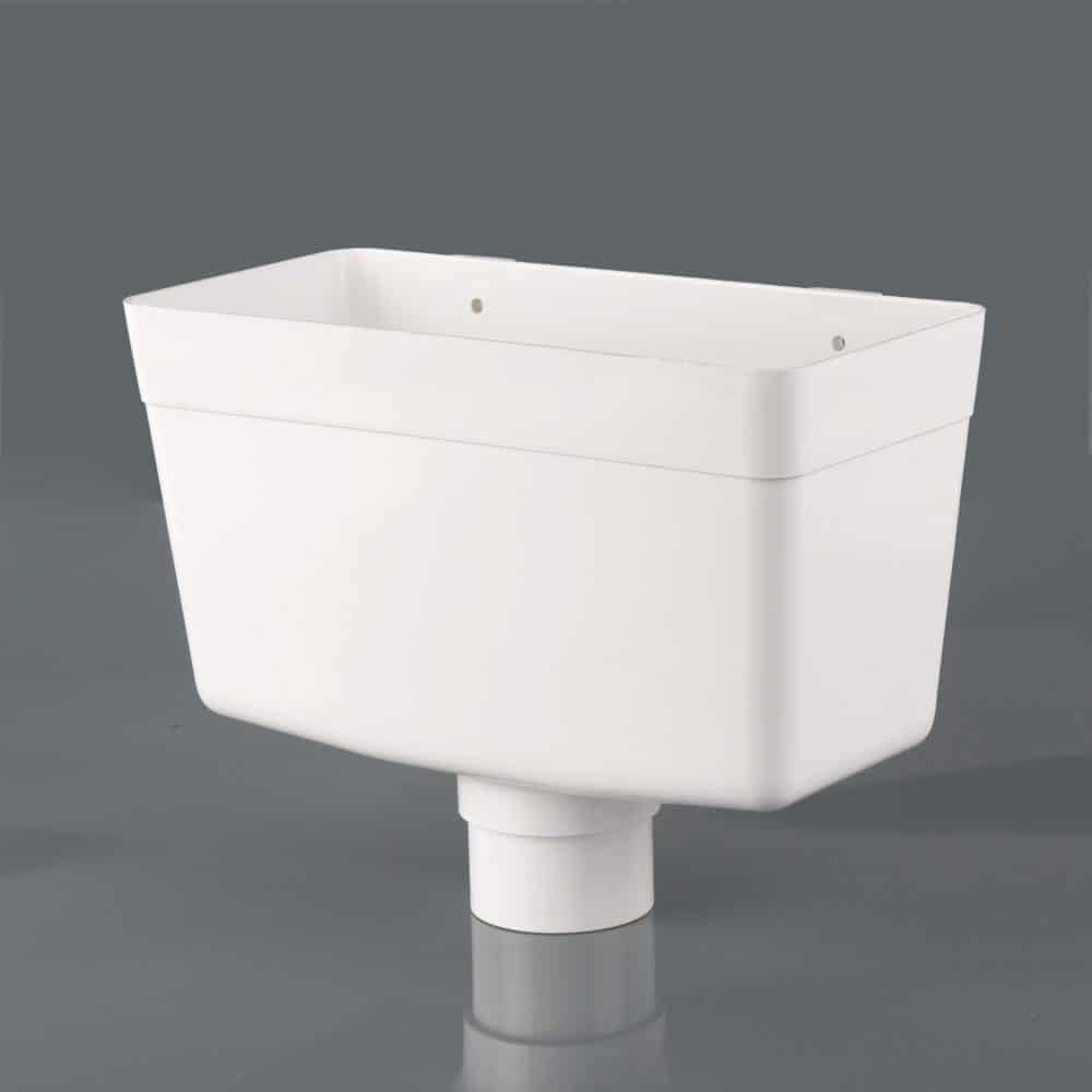 68mm Round Downpipe Hopper Head White