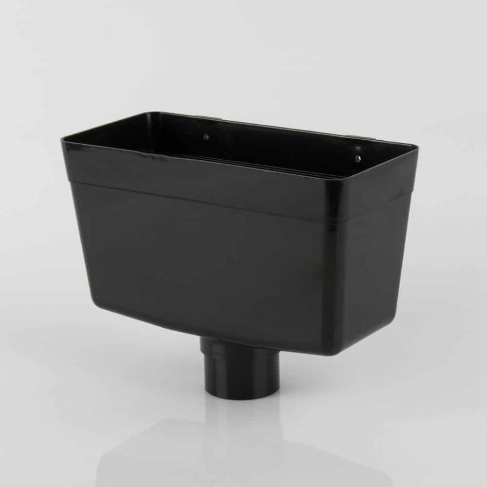 68mm Round Downpipe Hopper Head Black