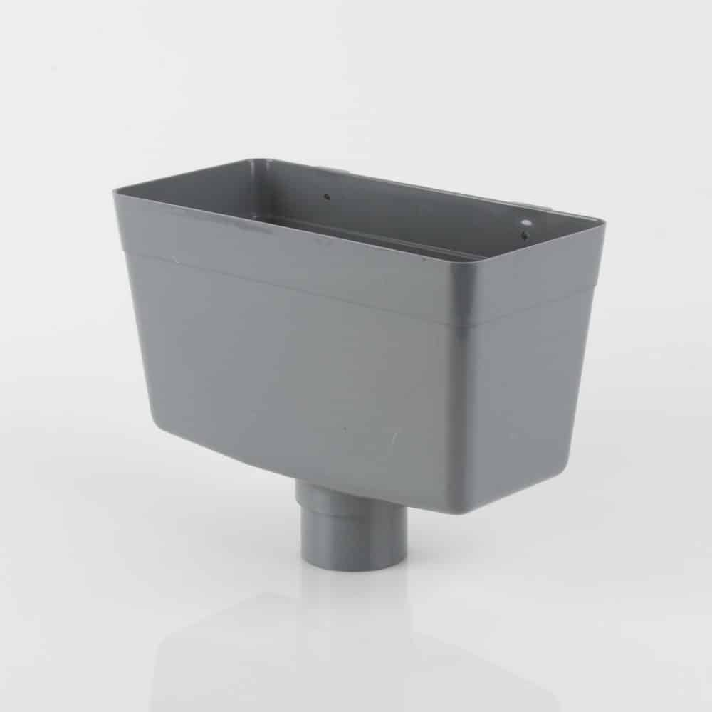 68mm Round Downpipe Hopper Head Grey