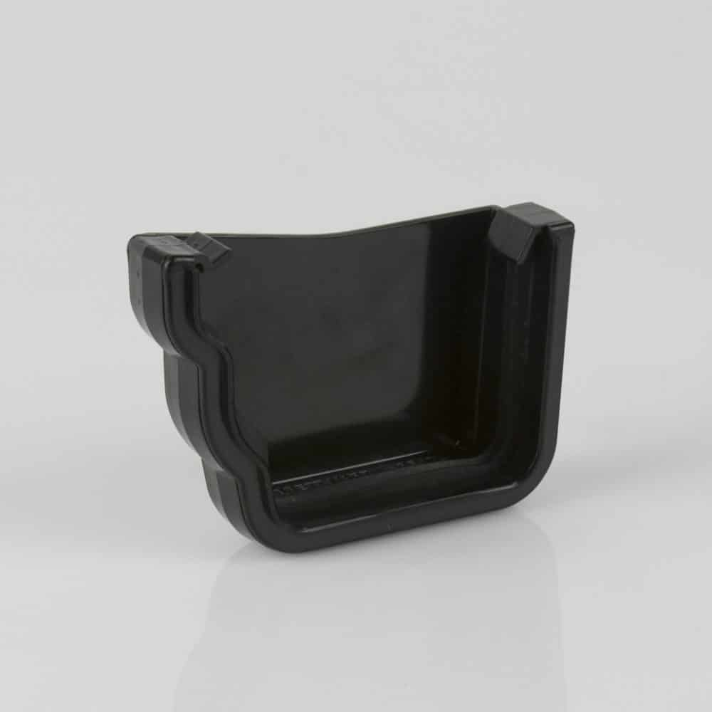 Left External Stop End 106mm Ogee Prostyle Black