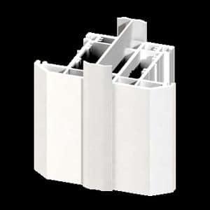 2mm x 70mm White UPVC H Section Frame Coupler 3m