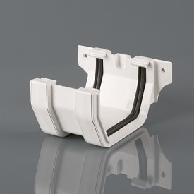 Squarestyle 114mm Gutter Joining Bracket White