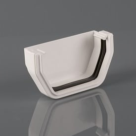 Squarestyle 114mm External Stopend White