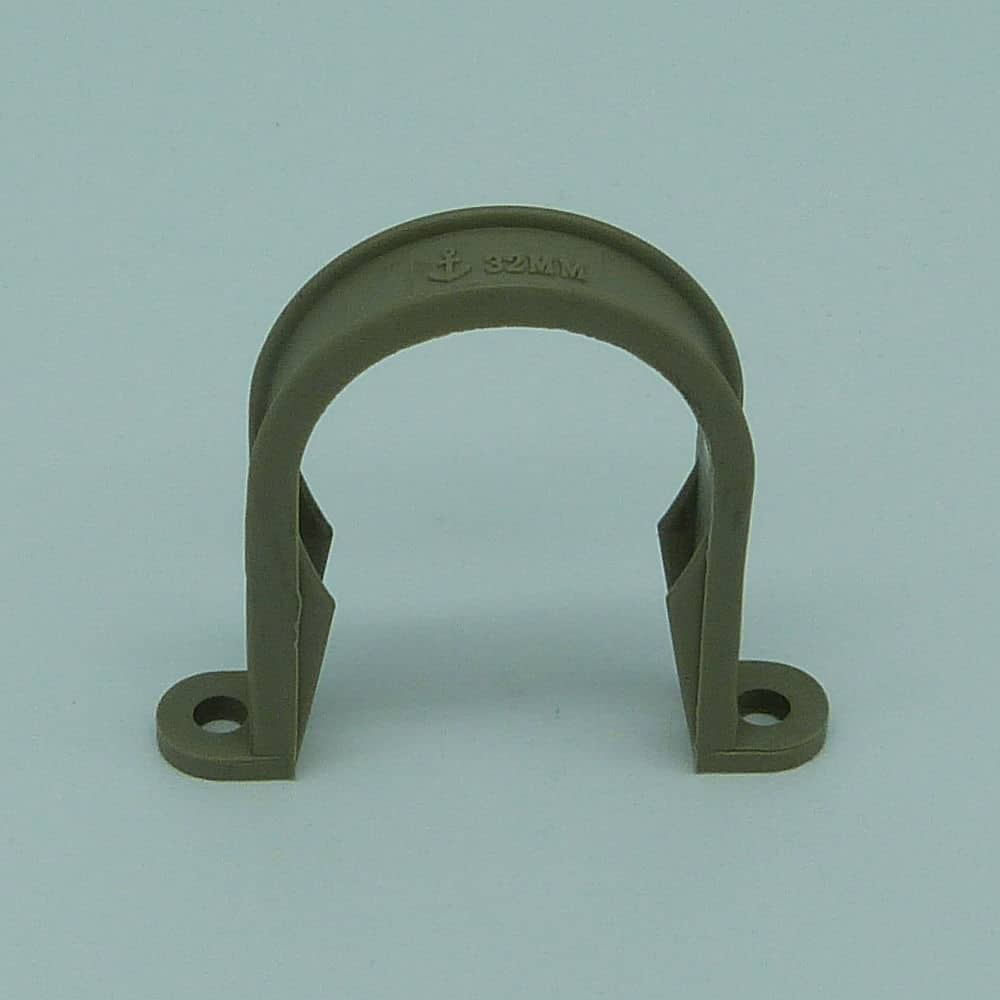 32mm pipe clip grey