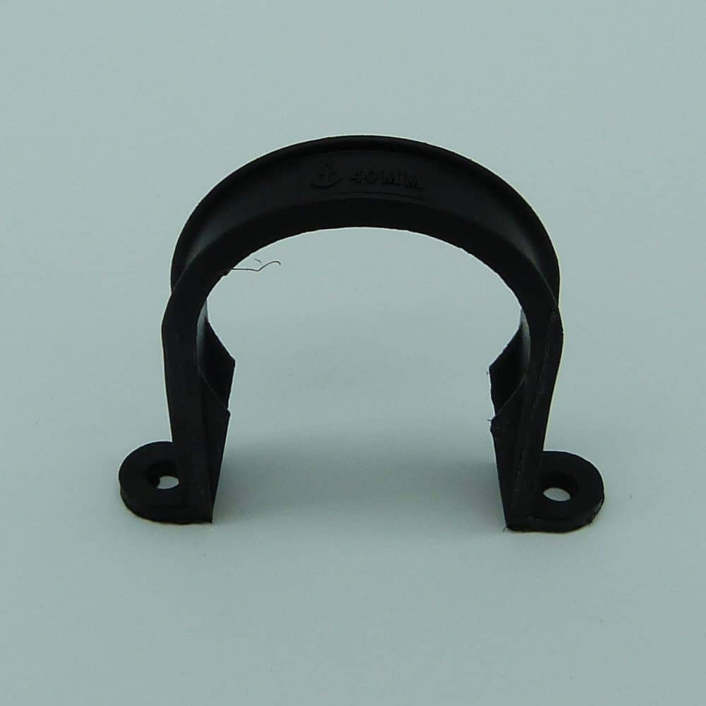 40mm pipe clip black