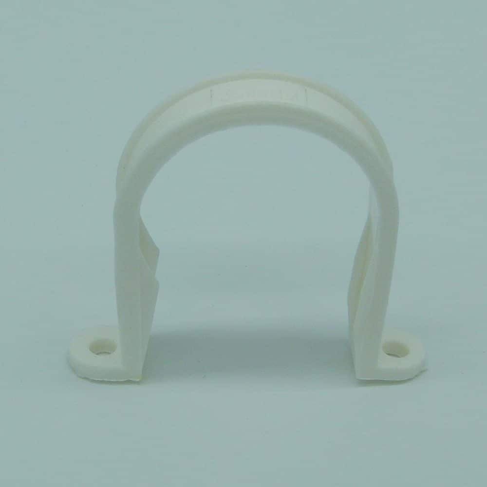 40mm Solvent Weld Pipe Clip White
