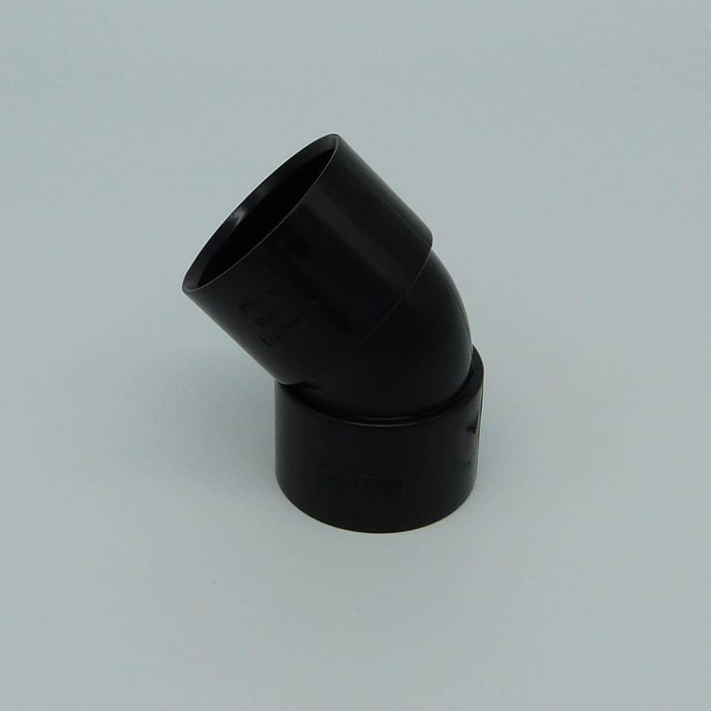 40mm solvent weld 45d bend black