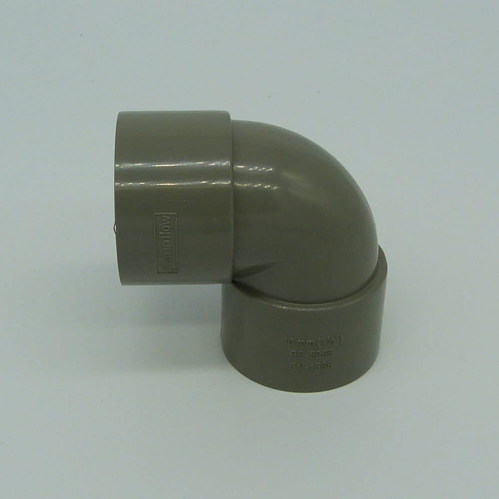 40mm Solvent Weld 90d Knuckle Bend Grey