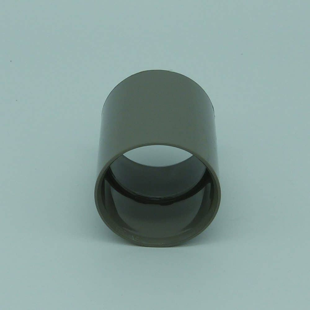 40mm Solvent Weld Coupler Grey
