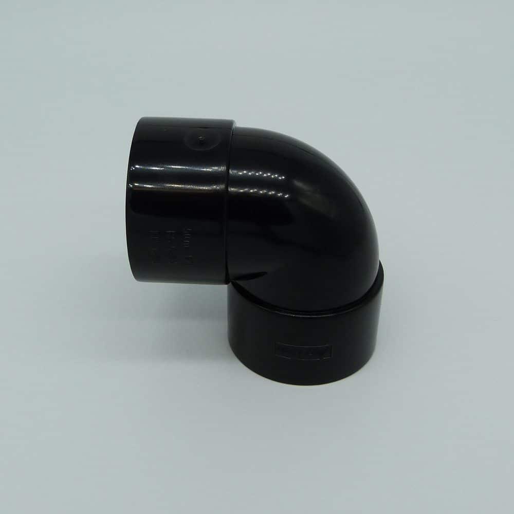 50mm Solvent Weld 90d Knuckle Bend Black
