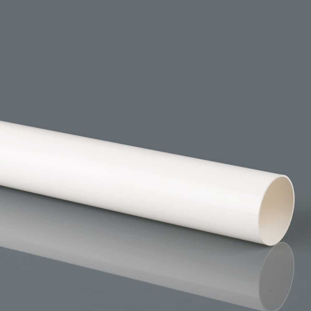 40mm Solvent Weld Waste Pipe 3M White