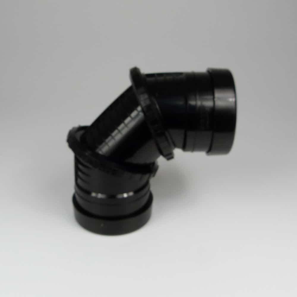 110mm PushFit Soil 0'-90' D/S Adjustable Bend Black