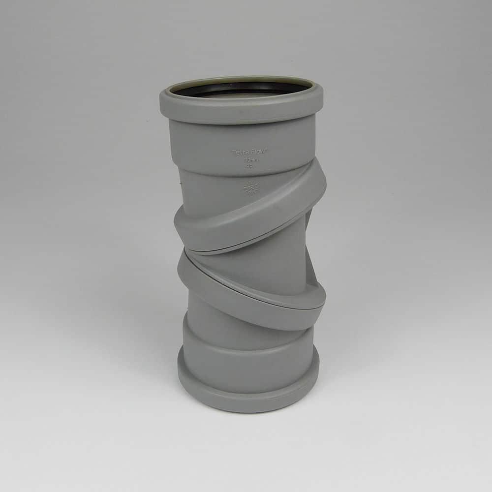 110mm PushFit Soil 0-90' D/S Adjustable Bend Grey