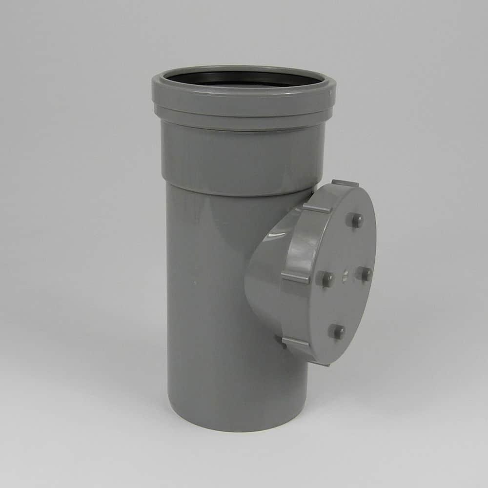 110mm PushFit Soil S/S Access Pipe Grey