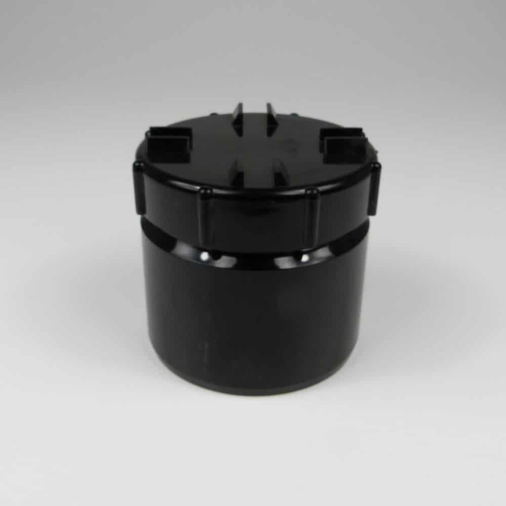 110mm PushFit Soil Access Cap Black