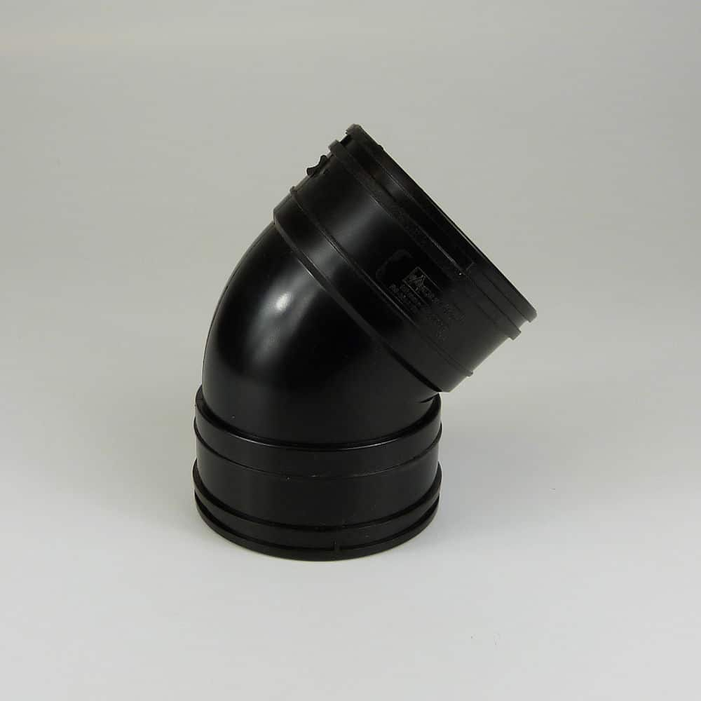 110mm Solvent Soil 45' D/Socket Black