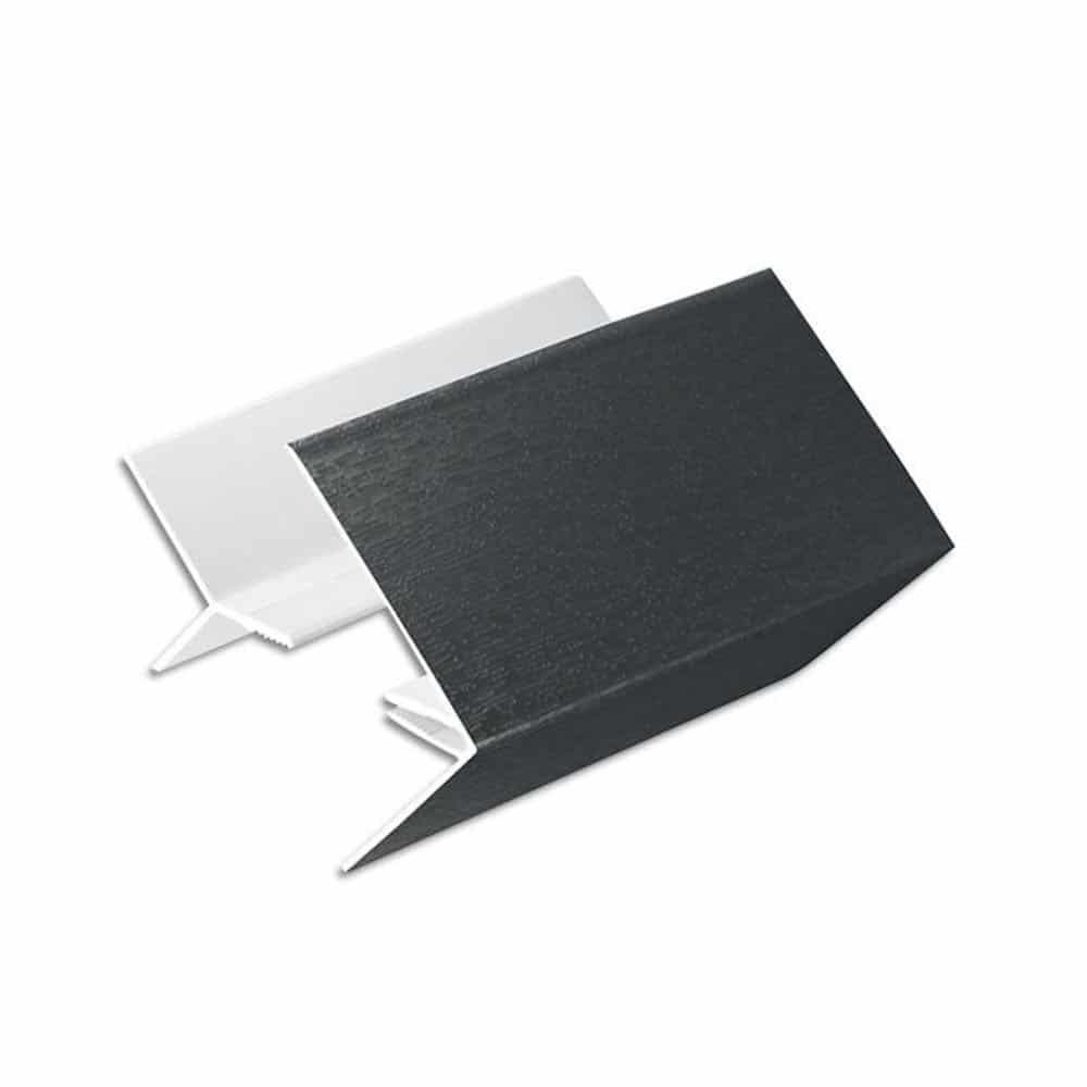 150mm 2 Prt Corner Trim W/Grain Anthracite Grey RAL7016 3m