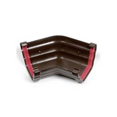 Freeflow Double Ogee 135 degree Gutter Angle Brown 135mm